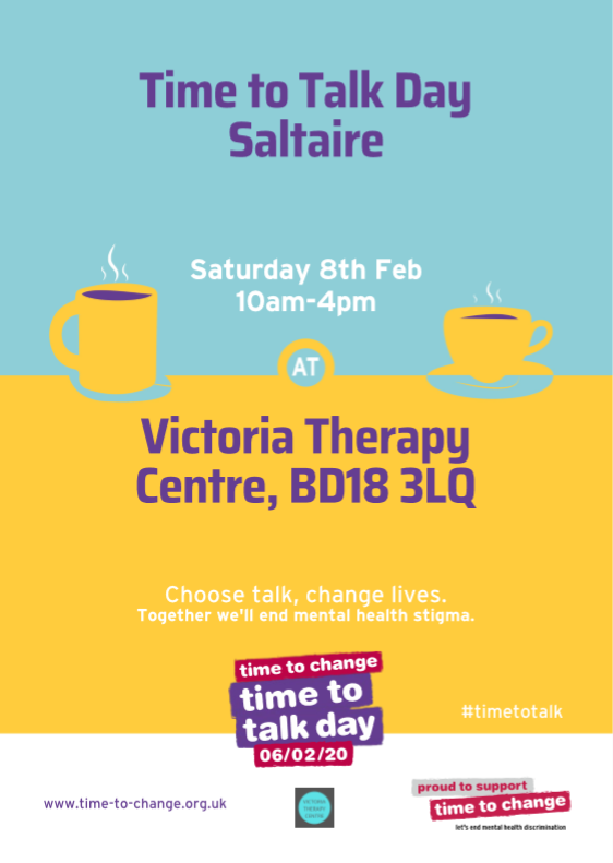 Time To Talk Day, Saltaire on Sat 8th Feb